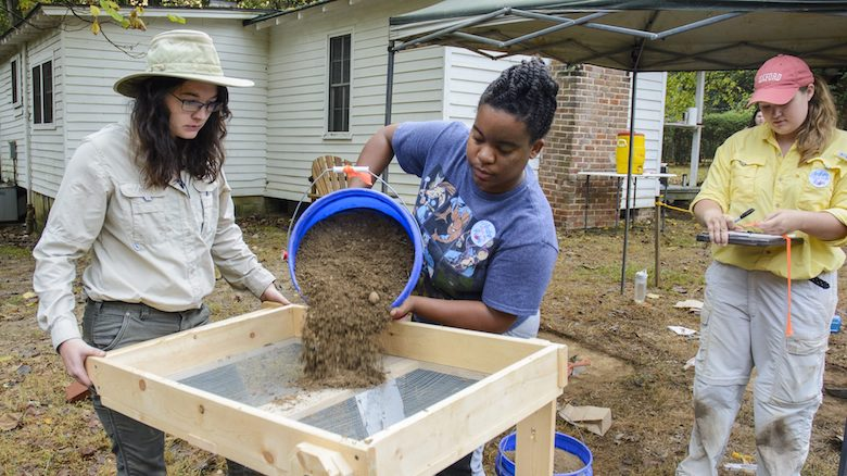 UM staff members and students participate in the 2016 Public Archaeology Day at Rowan Oak.