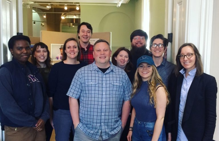 Southern Studies oral history/queer southern history students with IHP co-founder Josh Burford.